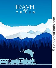 Travel with train background