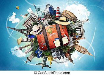 Travel, world landmarks