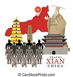 Travel Xian, China - Terracotta Warriors, Qin Shi Huang...