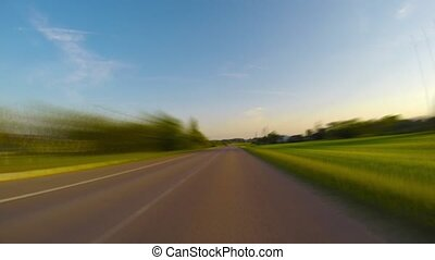 traveled, rural, timelapse, route