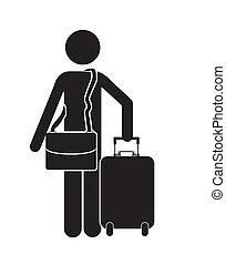 traveler design over white background vector illustration