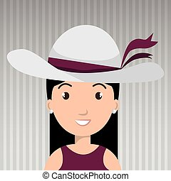 traveler woman tourist icon vector illustration design