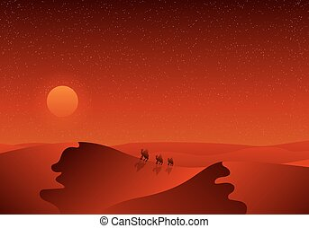 Travelers in the desert