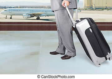 Traveling Businessman  in the Airpo