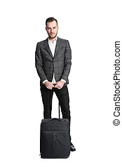 Traveling businessman - Attractive businessman on a travel...