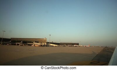 Traveling by Air. View of an Airport Terminal