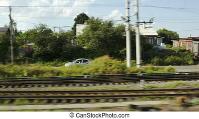 Traveling by train along with car