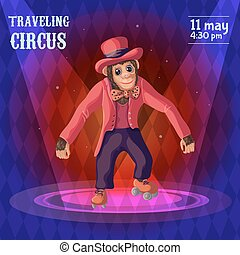 Traveling Circus Advertising Poster