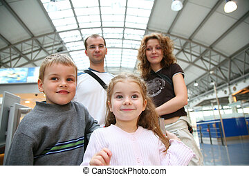 traveling family faces