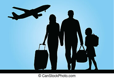 traveling family