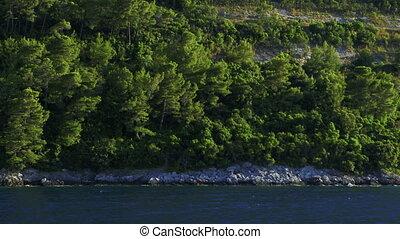 Traveling near the coast - Adriatic landscape. - Departure...
