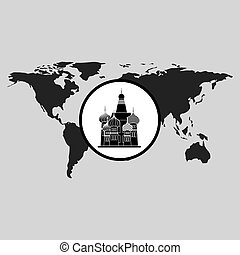 traveling russia monument design graphic