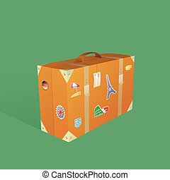 Traveling suitcase