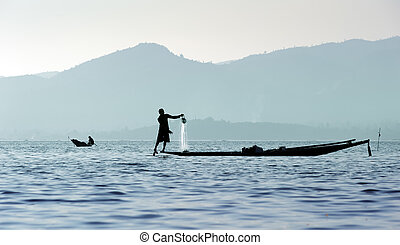 Traveling to Myanmar, outdoor photography of fisherman