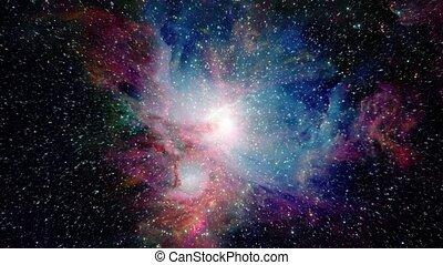 Traveling Towards Beautiful Galaxy