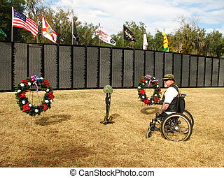 Traveling Vietnam Wall - A disabled veteran honoring fallen...