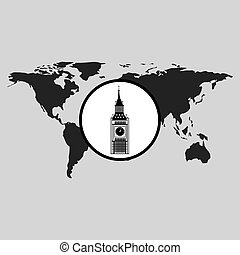 traveling world london monument design graphic