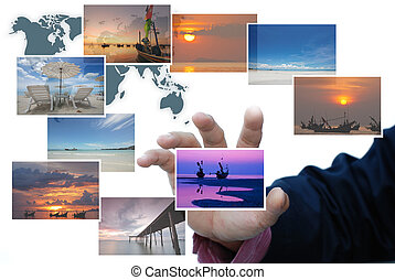 traveller selection - art work of travel business from...