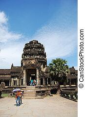 Traveller visit Angkor Wat