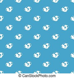 Travelling around the world pattern seamless blue