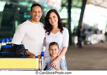 travelling family portrait - happy travelling family...