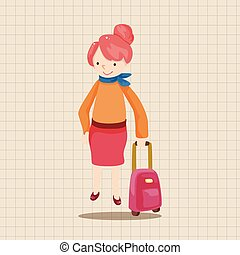travelling person theme elements