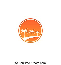 Travelling vacation logo design concept vector