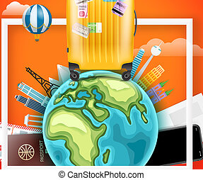 Travelling vector elements