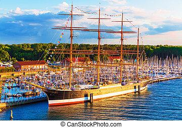 travemunde, bateau, allemagne, historique
