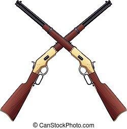 traversé, fusils