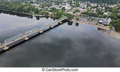 travers, historique, pennsylvanie, lambertville, rivière, ...
