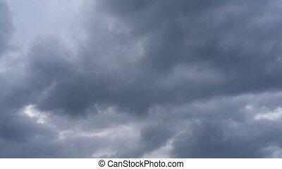 travers, nuages pluie, gauche, sombre, mouvement, droit, ...