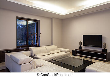 Travertine house - cosy living room