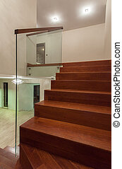 Travertine house - well designed staircase