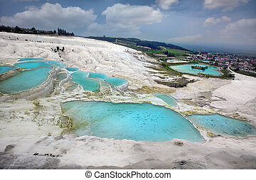 Travertine pools