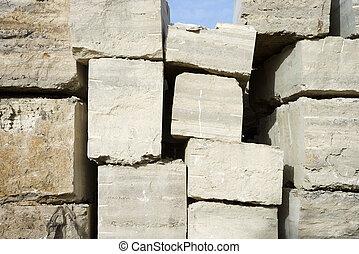 Travertine stone.