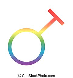 travesty gender symbol of sexual orientation degradient style icon vector illustration design