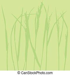 trawa, -, tło, szablon