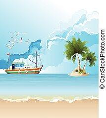 Trawler boat fishing
