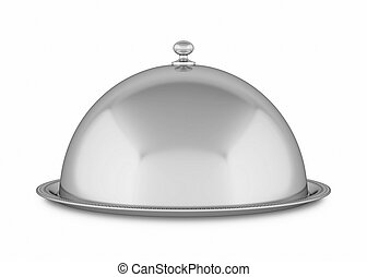 Tray isolated on white background. 3D rendering.