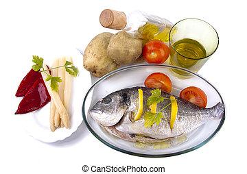 tray of baked fish