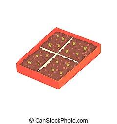 Tray of plants seedlings cartoon vector Illustration