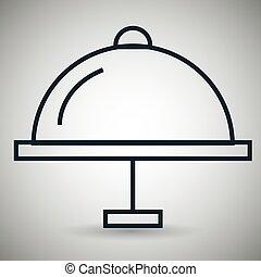 tray server food icon