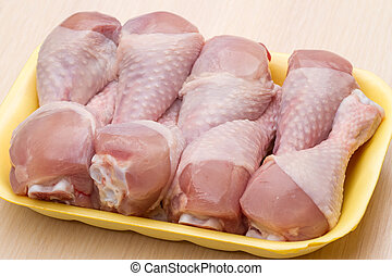 Tray with halal chicken legs