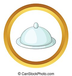 Tray with lid vector icon