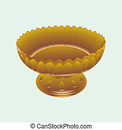 tray with pedestal vector isolated on background