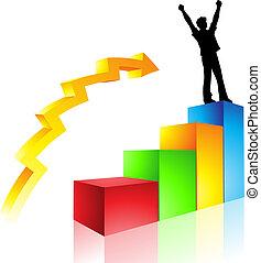 trayectoria, a, éxito