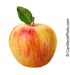 trayectoria, recorte, aislado, manzana, honeycrisp