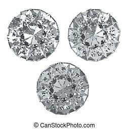 Trayectoria, Recorte, Conjunto, diamantes