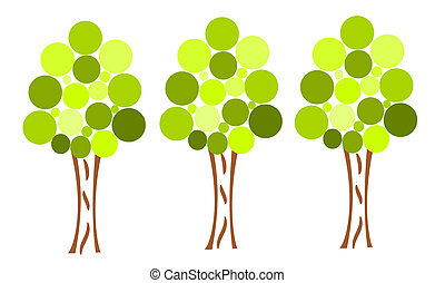 tre, albero